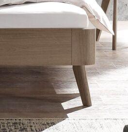 Bett Oriane mit gerundetem Holzbettrahmen