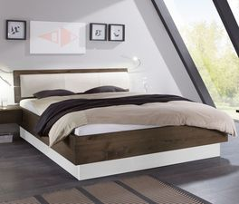 Modernes Bett Patea mit weißem Sockel