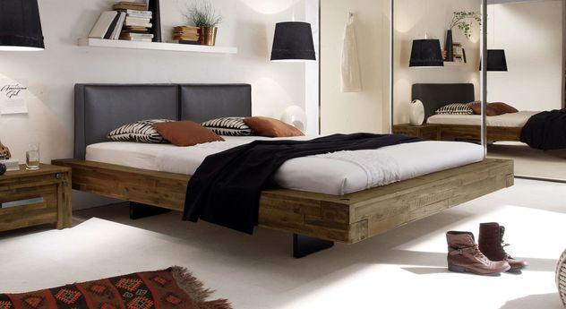 Bett Penco aus braunem Akazienholz