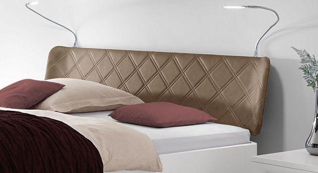Bett Perama inklusive Kopfteil aus Luxus-Kunstleder