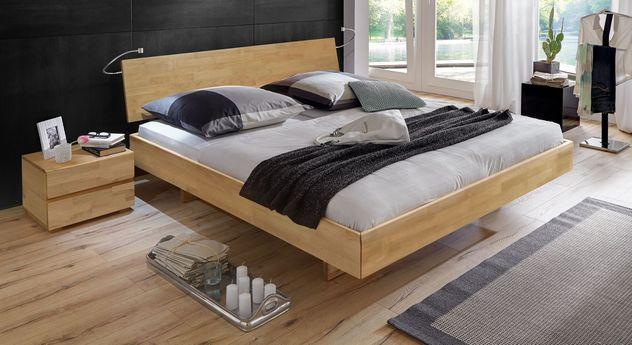 Buchen-Bett Rimini mit 38 cm Rahmenhöhe