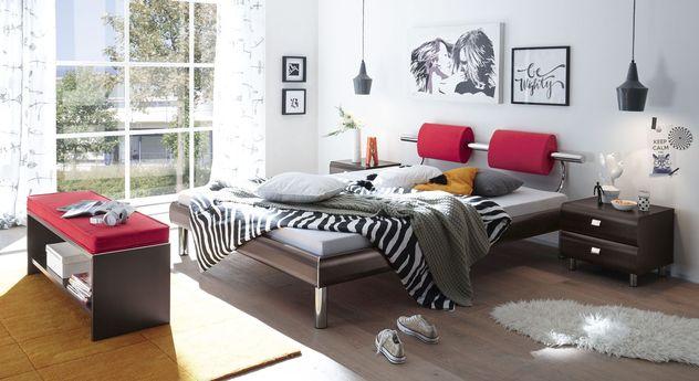 Bett Rocio mit passenden Schlafzimmer-Möbeln