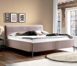 Bett Ronea mit Bettbeinen im Retro-Stil