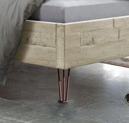 Bett Rosalba mit Kupfer-Füße