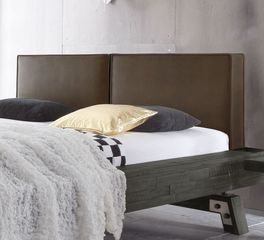 massivholz bett z b in grau aus akazie salo. Black Bedroom Furniture Sets. Home Design Ideas