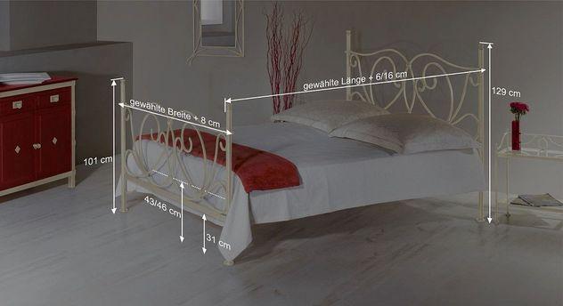 Bett San Pedros Bemaßungsskizze