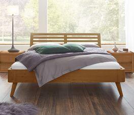 Bett Santa Rosa aus rustikalem Massivholz