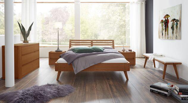 Bett Santa Rosa mit passendem Schlafzimmer-Zubehör