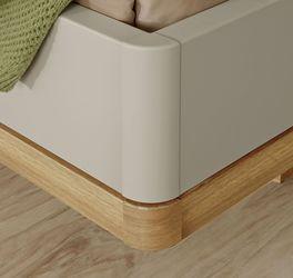 Trendiges Bett Seabrook und Dolavon mit zweifarbigem Bettrahmen