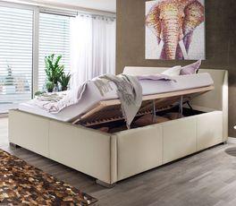 Funktionales Bett Sesimbra mit optionalem Bettkasten