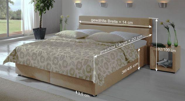 Bemaßungsskizze des Betts Severo