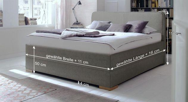 Bemaßungsskizze des Betts Sila