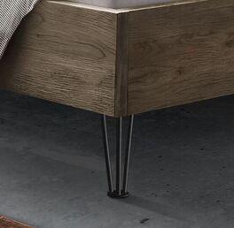 Bett Silandro mit anthrazitfarbenen Metall-Füßen