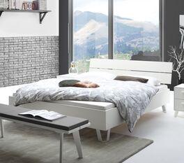 Modernes Bett Sindri in Weiß