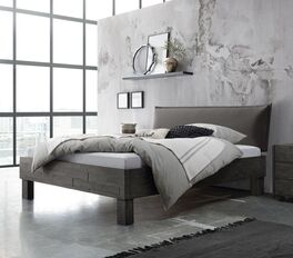 Graues Bett Solidea aus hochwertigem Material