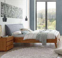 Kirschbaumfarbenes Bett Soprenia in trendigem Design