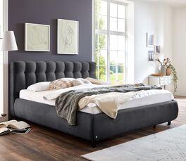 Preiswertes Bett Sumaya mit Polster-Bettrahmen