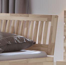 Bett Sunrise mit aufwendigem Sprossenkopfteil