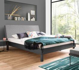 Preiswertes Bett Telesto in stilvollem Materialmix