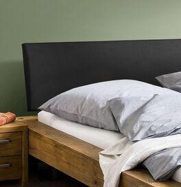 Bett Valdor mit schwarzem Polsterkopfteil aus Luxuskunstleder