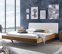 Modernes Bett Valladion mit Massivholzrahmen