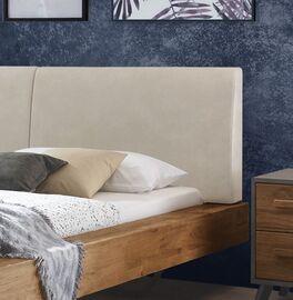 Bett Valladion mit zweigeteiltem Polster-Kopfteil