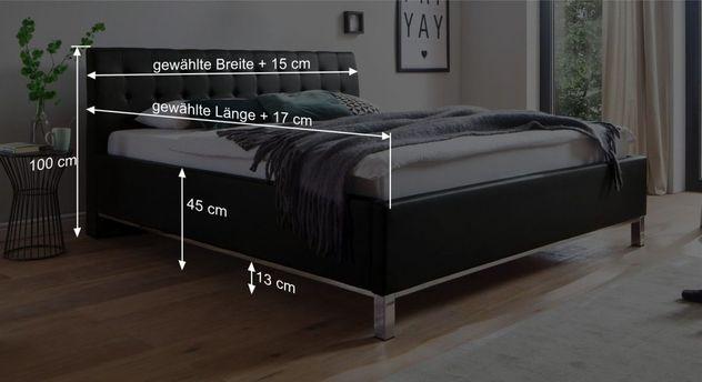 Bett Varmos Bemaßungsgrafik