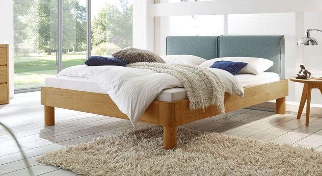 Bett Velasco aus naturfarbener Eiche