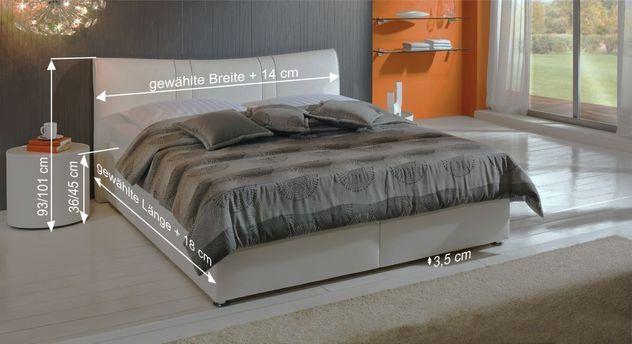 Bemaßungsskizze für Bett Venetien