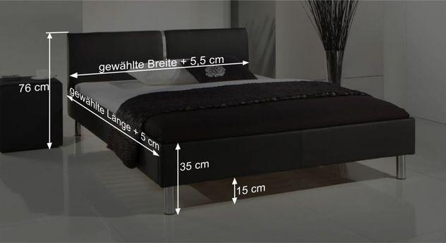 Bett Victorvilles Bemaßungsgrafik
