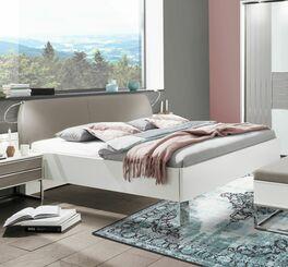 Bett Waterbury in alpinweißem Dekor