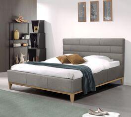 Preiswertes Bett Wiarus in grauem Stoffbezug