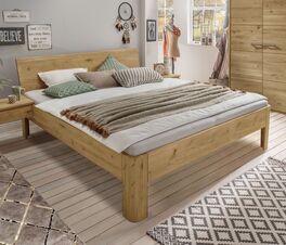 Bio-Bett Wila metallfrei aus massivem Wildeichenholz
