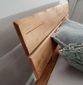 Wildeiche-Bett Kopfteil im natürlichen Look