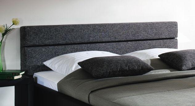 Bett Sanremo Kopfteil grau schwarz