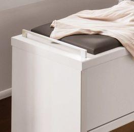 Bettbank Castelli mit havannafarbenem Kunstleder Polster