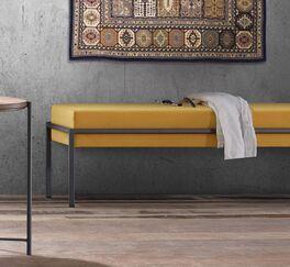 Stylische Bettbank Nocan mit bequemem Sitzkissen