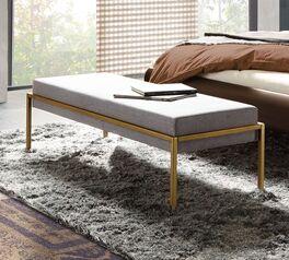 Bettbank Sirone mit bronzefarben lackiertem Metallgestell