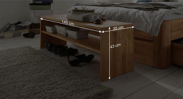 Bettbank Zarbos Bemaßungsgrafik
