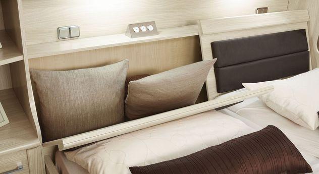 Bettbrücken-Bett Palena mit Kopfteil-Bettkasten