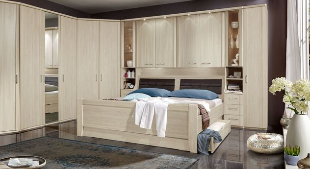 seniorenbett mit bettkasten f r berbau schlafzimmer palena. Black Bedroom Furniture Sets. Home Design Ideas