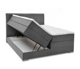 Bettkasten-Boxspringbett Agulo mit beidseitigen Stauraumfächern