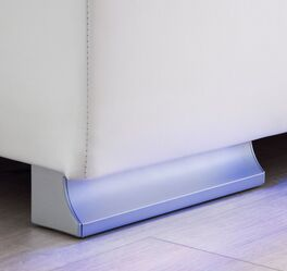 Bettkasten-Boxspringbett Inikos Fuß mit stilvoller Beleuchtung