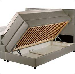 Bettkasten Boxspringbett Portmore mit integriertem Lattenrost