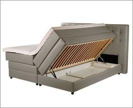 Bettkasten Boxspringbett Portmore mit niedrigen Bettbeinen