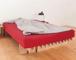Bettsystem Tojo Parallel aus unbehandelter Buche Multiplex