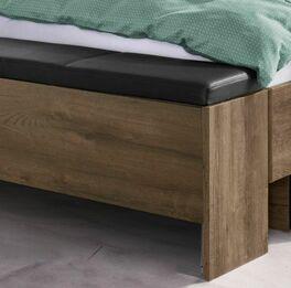 Betttruhe Galliano mit schwarzem Sitzpolster aus Kunstleder