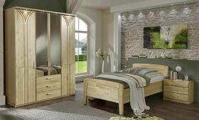 Birke Schlafzimmer-Möbel Bett und Kleiderschrank