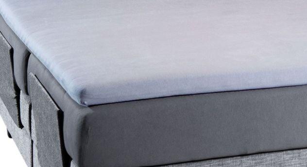 sehr dehnbares boxspring spannbetttuch f r topper mit elasthan. Black Bedroom Furniture Sets. Home Design Ideas