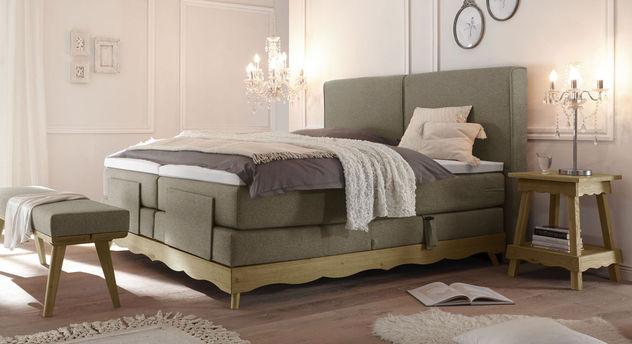 elektro boxspringbett inklusive luxus matratze und topper bakar. Black Bedroom Furniture Sets. Home Design Ideas